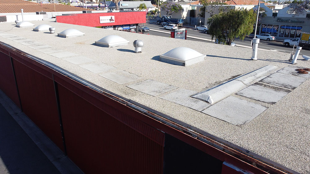 commercial roofing repair project in redondo beach
