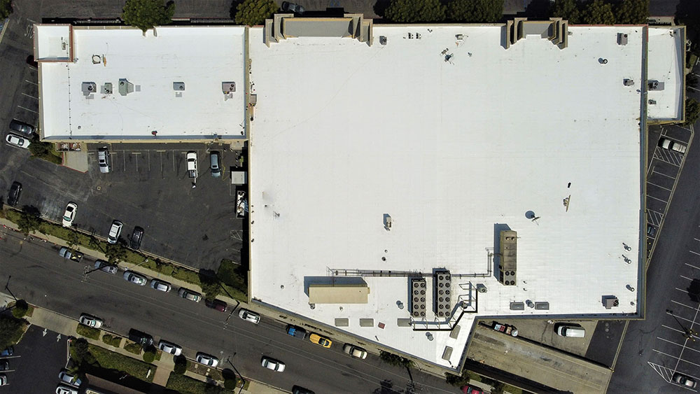 commercial roof repair drone photo in Thousand Oaks, CA