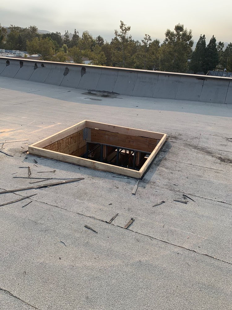 skylight replacement on commercial roof in westlake village, ca