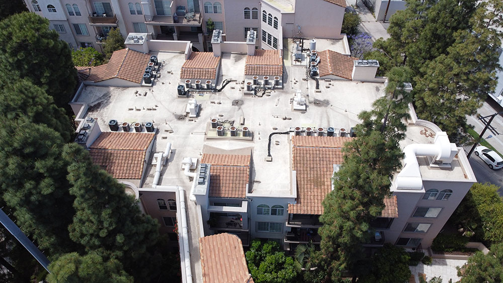 commerial roofing project in Studio City, CA